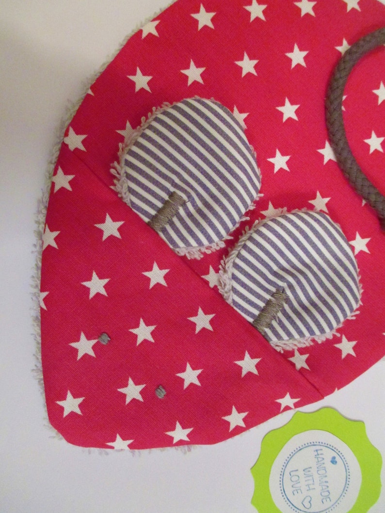 Crackling cloth Milli in pink with white stars image 0