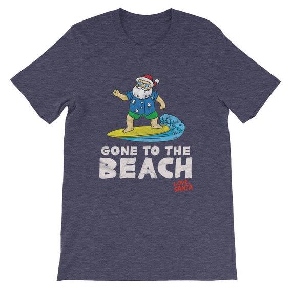 Allé à la plage - amour Santa manches unisexe courtes T-Shirt unisexe manches 81d044