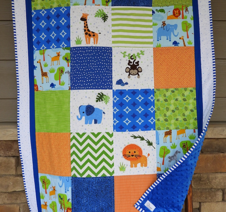 a6a9c3465f59a Jungle baby quilt/handmade baby quilt/Jungle baby blanket/elephant  quilt/Jungle nursery/elephant quilt/safari baby quilt/Lion quilt