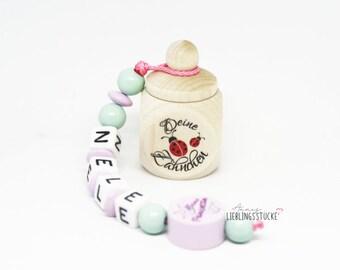 Milk tooth box ladybug little princess by name