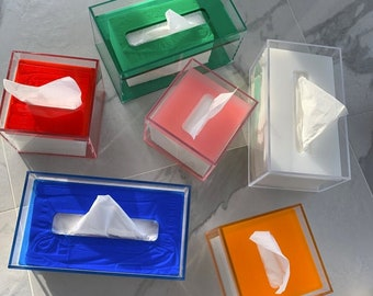 Acrylic Rectangular and Square Tissue Holder Box