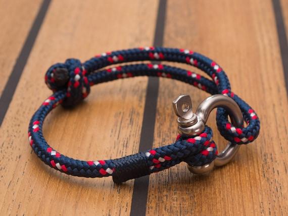 Armband Aus Segeltau Maritim Mit Schakel Nautic Etsy