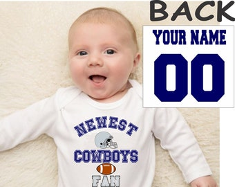 Bloomer and Headband Dallas Cowboys Baby Girl Personalized Bodysuit