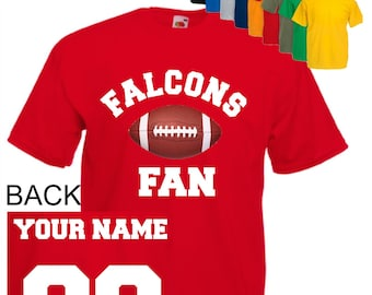 Falcons Custom Name /& Number Personalized Youth Jersey T-shirt