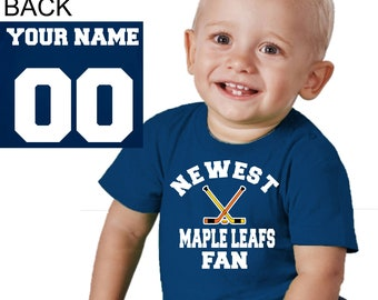 Toronto Maple Leafs baby shirt infant t-shirt sport customized personalized  name and number child boy kid s shower 12672625d