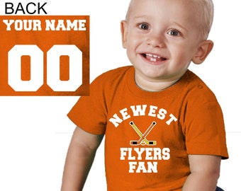 c67156855 Philadelphia Flyers baby shirt infant t-shirt sport customized personalized  name and number child boy kid s shower