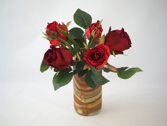 Marble Flower Vase Medium In Size Etsy