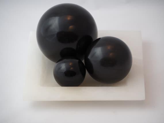 Decorative Marble Ball Set Etsy