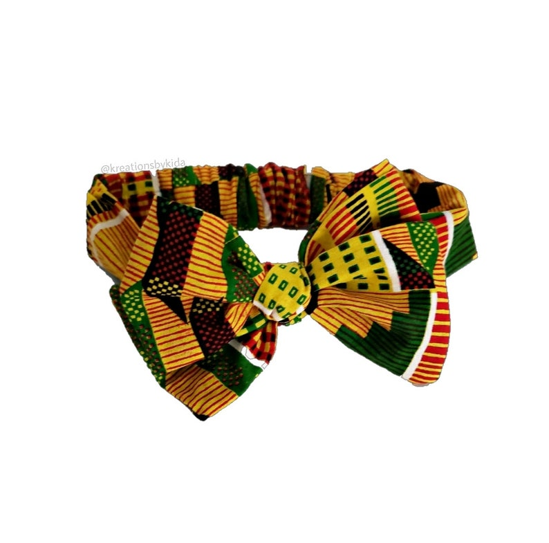 african print gift for her Kente pre tied head wrap black history month dress scarf ankara hair wrap ethnic head wrap for baby and girls