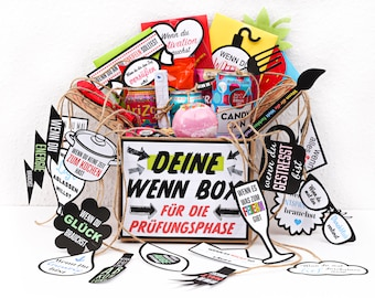 Gift for students, trainees or high school graduates - Anti exam stress - When making a box for exam preparation yourself - Craft set