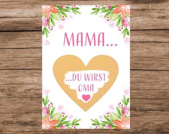 Mom You Become Grandma - Scratch Card to Announce Pregnancy