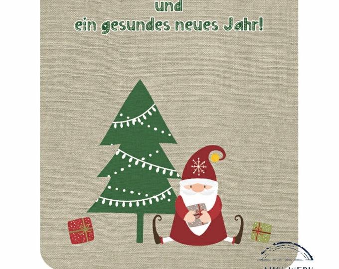 """Postcard """"Wichtel unter'm Tannenbaum"""""""