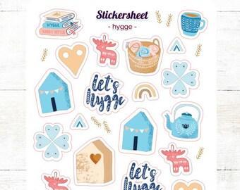 Sticker Hygge Sticker Sheet Bullet Journal Stickersheet Scrapbook Sticker Hyggelig Scandi Sticker Danish Sticker Scandinavia Autumn Time