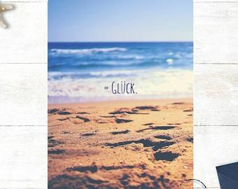 """Maritime postcard """"=luck"""""""