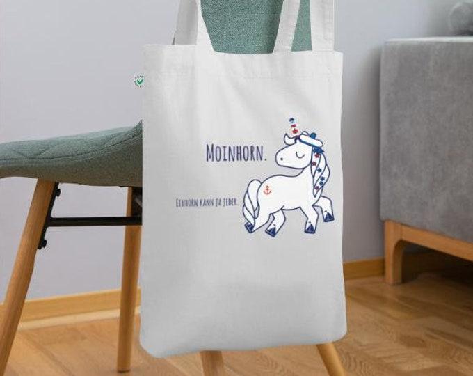 "Organic fabric bag ""Moinhorn (R)"" maritime bag/Büddel/fabric bag/shopping bag in different colours"