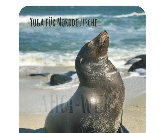 "Postcard ""Yoga for North Germans"""