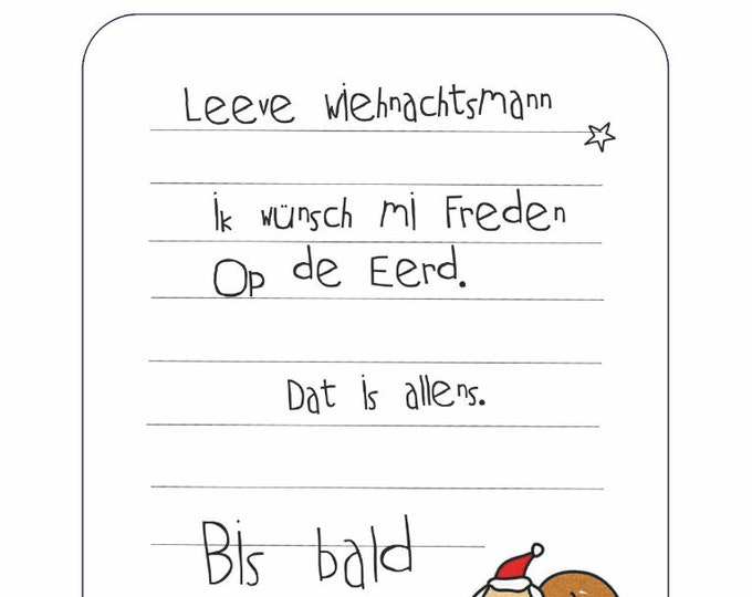 "Postcard ""Wish list op Platt"""