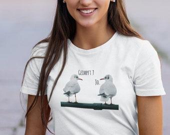 """Women's T-Shirt """"Vaccinated? - Jo."""" Premium Quality"""