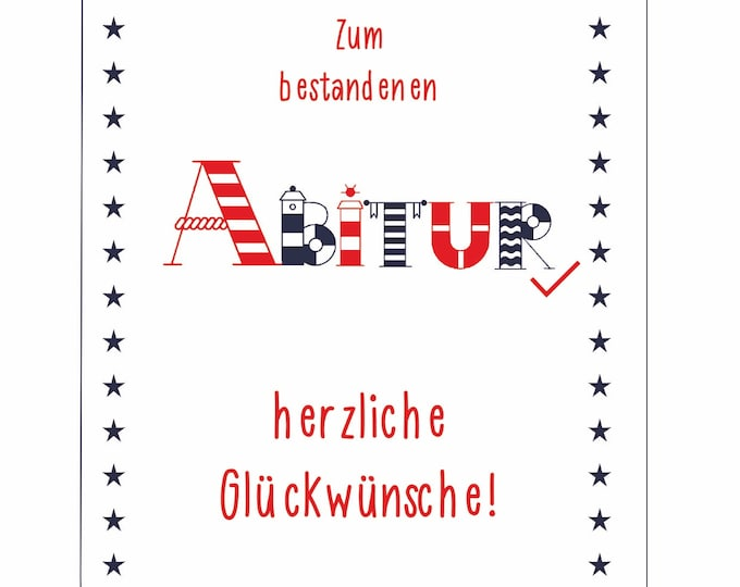 """Greeting/Double Card """"Abitur"""""""