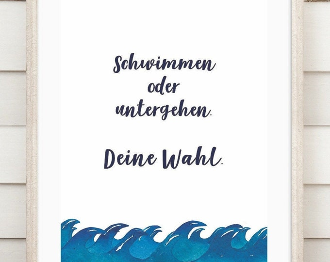 """Art print """"Swimming or going down"""""""