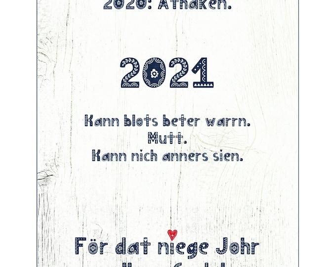 "Postcard ""2021 - Allens Gode"" - Plattdeutsche New Year's Card"