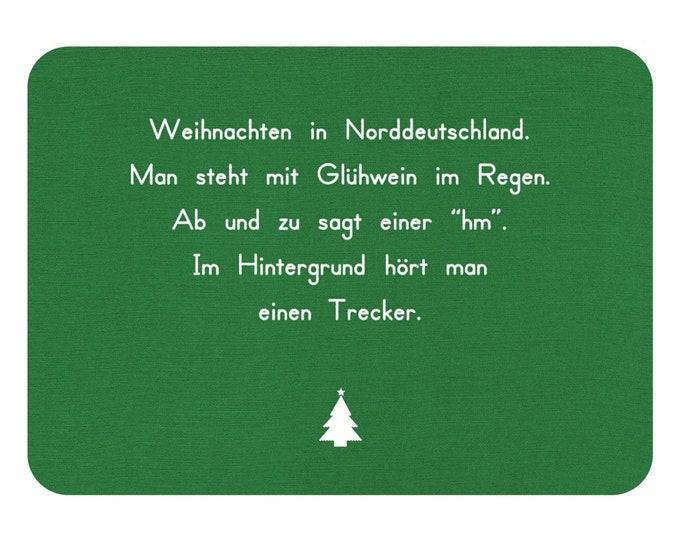 "Postcard ""Christmas in Northern Germany"" Christmas card/funny/northern German"