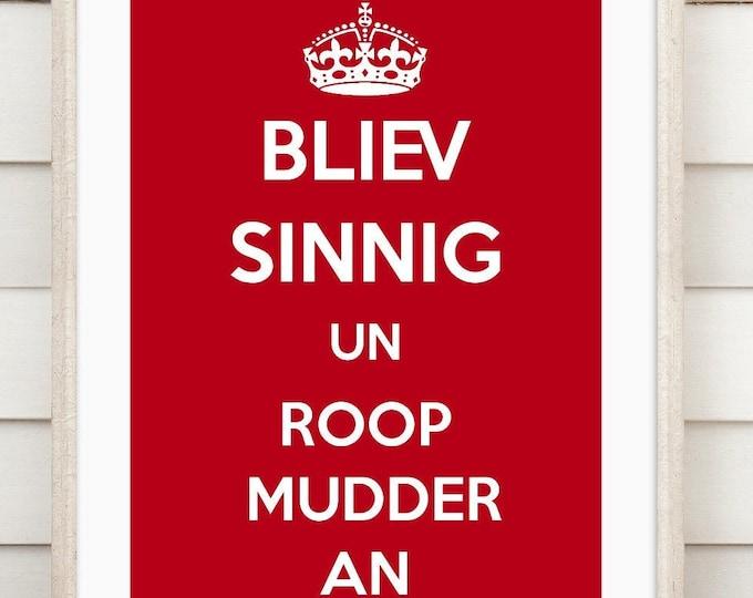 """Art print """"Roop Mudder an"""""""