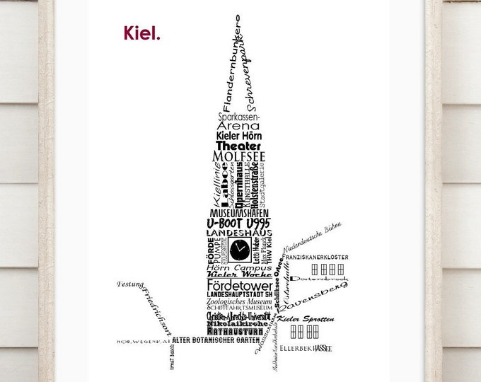 "Art print ""Kiel - wordcloud"""