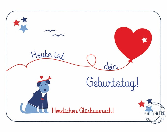 "Postcard ""Maritime Children's Birthday - Kid 5"""