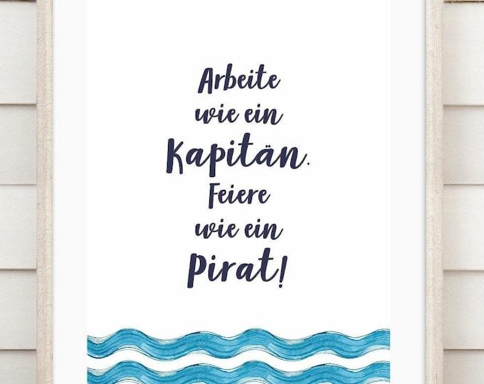 "Art print ""Pirate"""