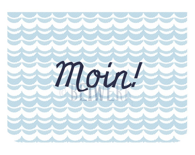"""Greeting/double card """"Moin"""""""