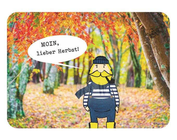 "Postcard ""Fiete salutes autumn"""