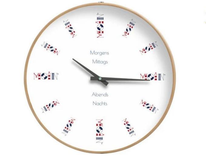 "Wall clock ""Moin"""