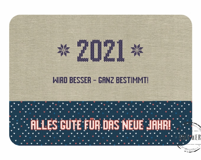"""Postcard """"2021 is getting better!"""" New Year's Greetings"""