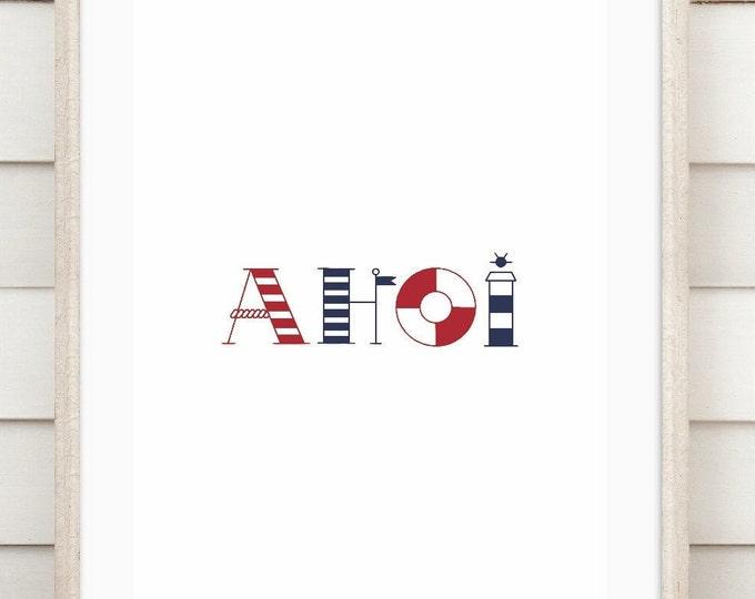 "Art print ""Ahoi"""