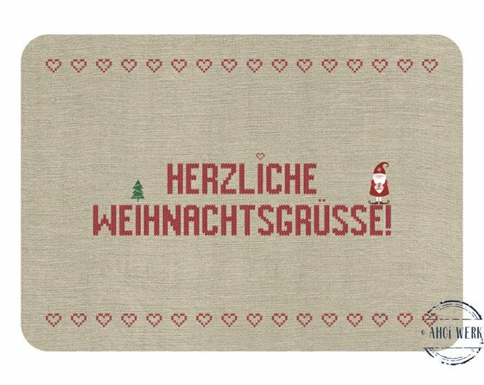 """Postcard """"Heartly Christmas Greetings"""" Christmas Pimple"""
