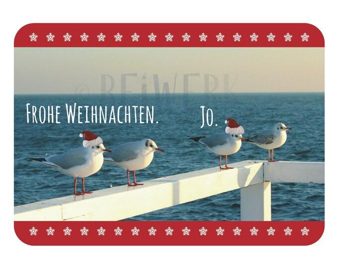 """Postcard """"Seagulls Christmas"""""""