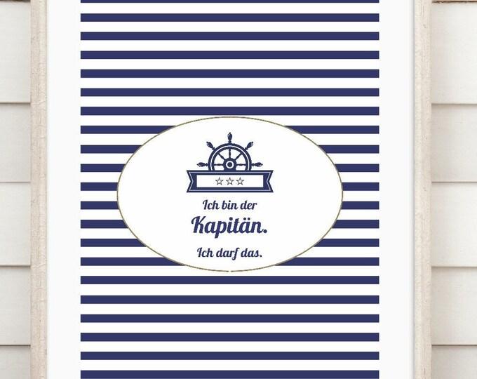 "Art print ""Captain"""