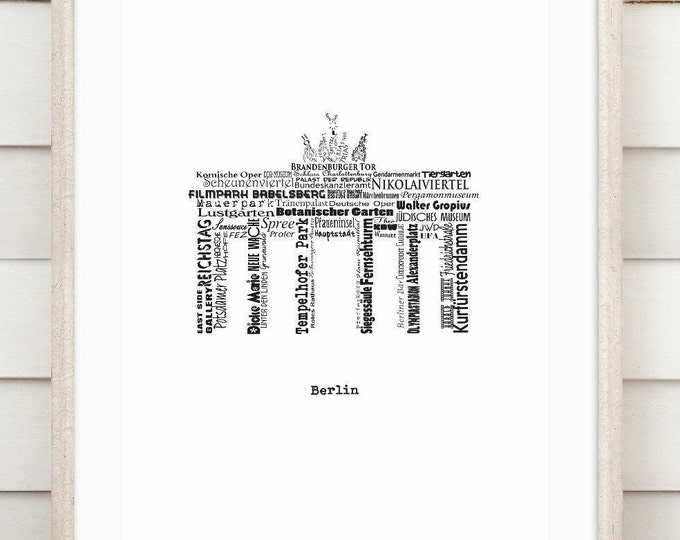 "Art print ""Berlin - Wordcloud"""