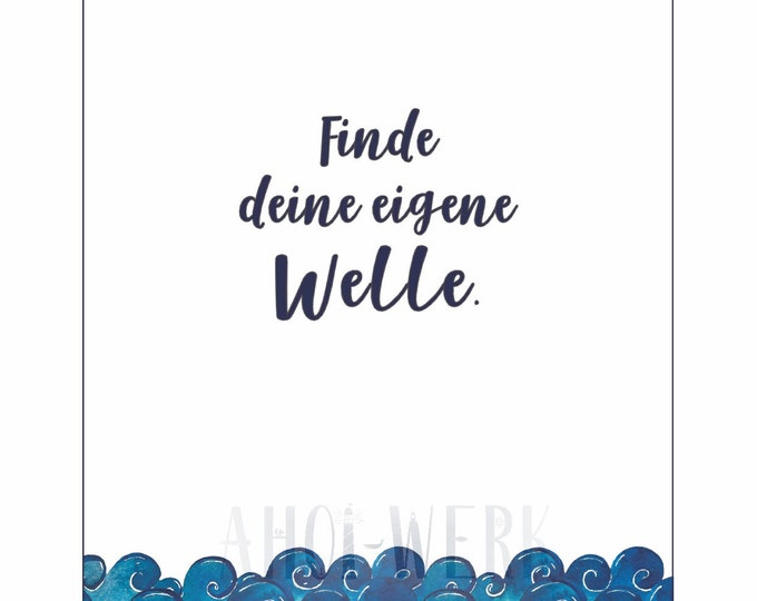 "Postcard ""Find your own wave"""