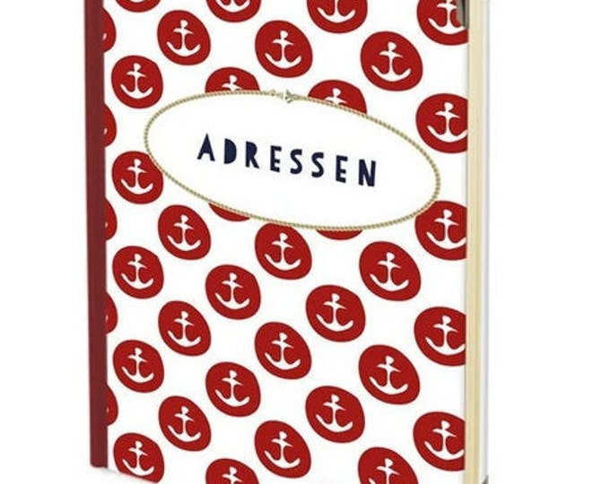 """Address book """"Anchor - red"""""""