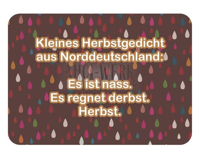 "Postcard ""Autumn Poem"""