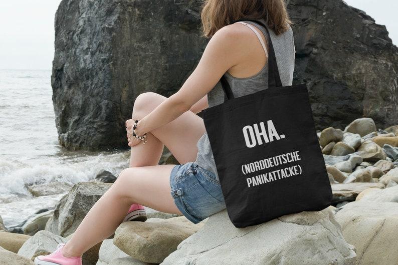 Organic cloth bag Oha  North German Panic Attack image 0