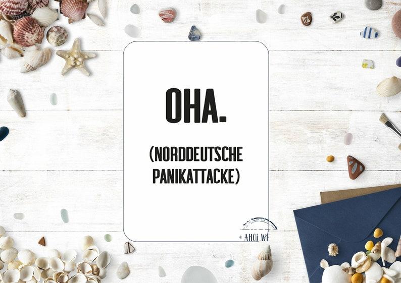 Funny postcard Oha  North German panic attack image 0