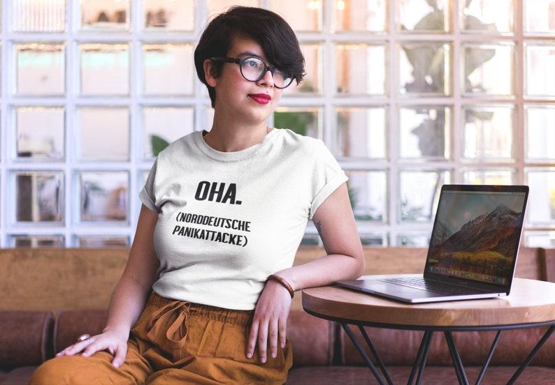 Women's Oversize T-Shirt Oha. North German Panic White