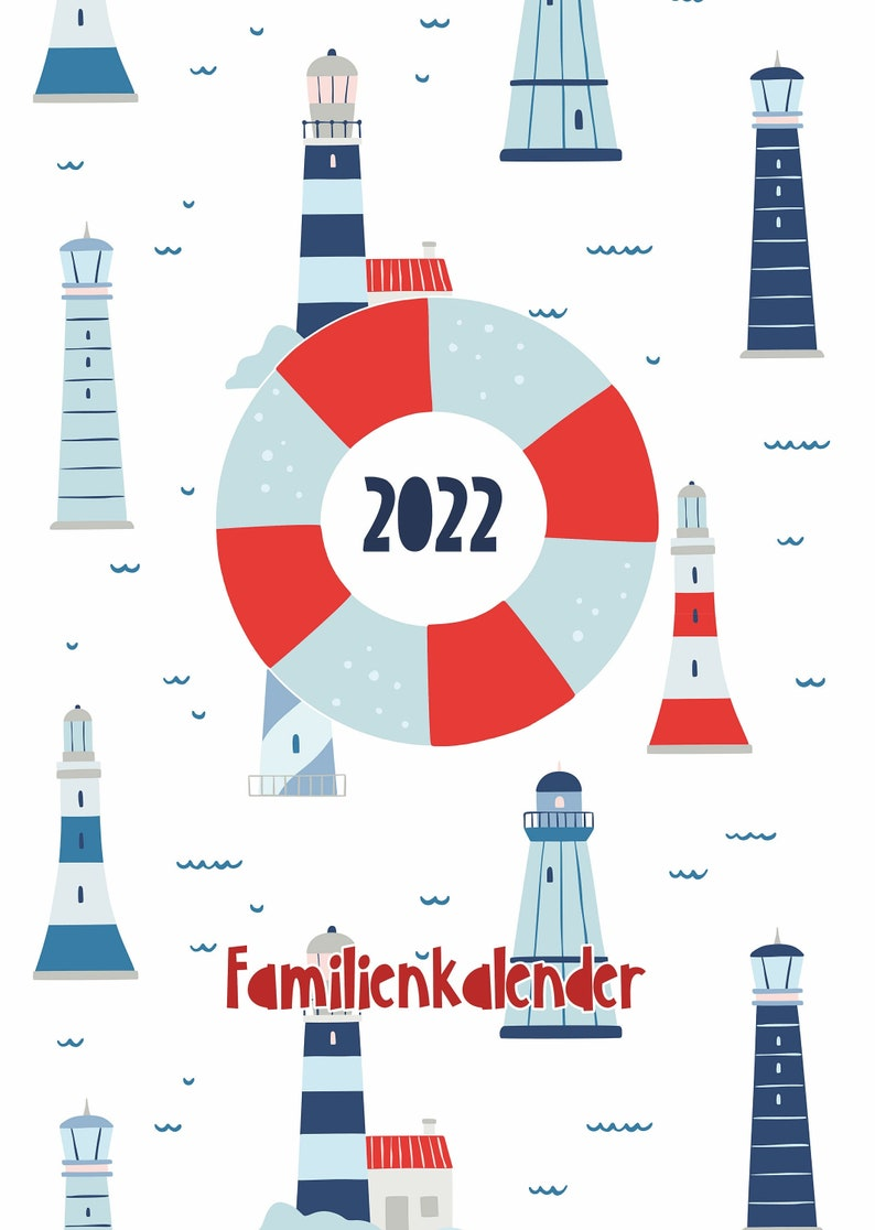 Family Planner 2022 Maritim with 6 columns image 0