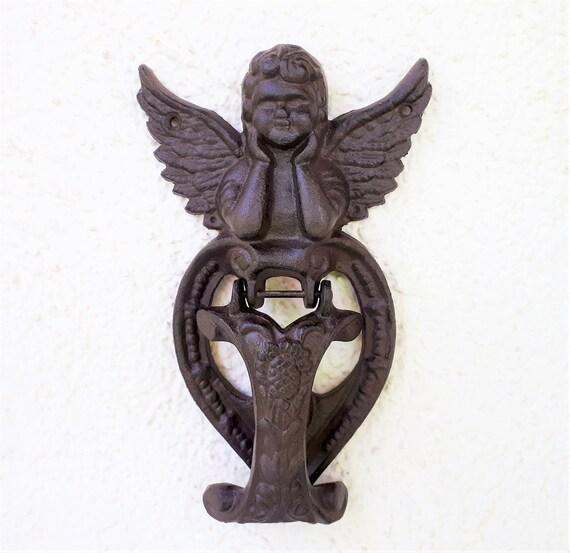 T/ürklopfer Gusseisen Engel Shabby Antik ca 20 cm Haust/ür Garten Eingangst/ür