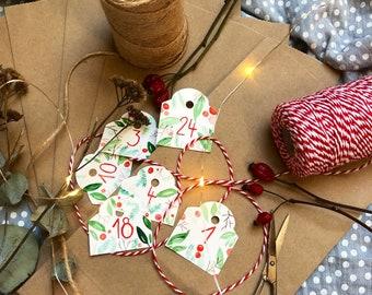 DIY Advent Calendar Advent Calendar Bags Self-filling Christmas Watercolor Paper Bags