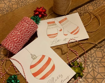 Postcard Set 7pcs. Christmas Greeting Card Love Gift Idea