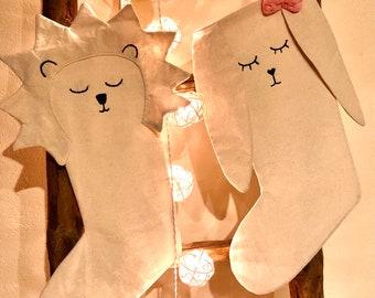 Santa Claus Boots Christmas Bunny Lion Santa Sock Christmas Boots
